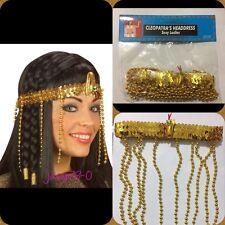 Le donne con Perline Copricapo Egiziana Cleopatra Costume Capelli Decor-UK