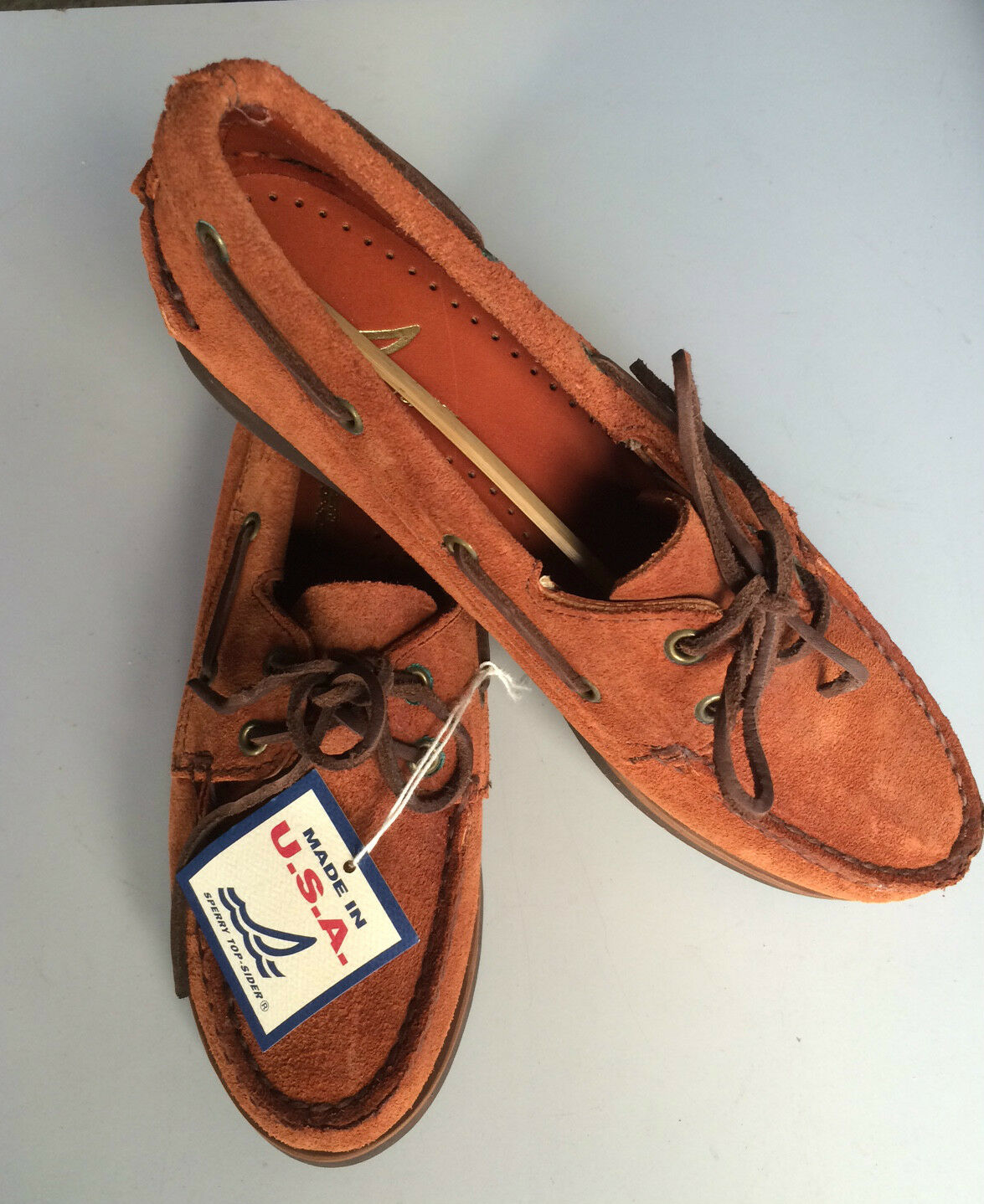 SPERRY TOP SIDER SCARPA DA VELA 38 WOMEN MOCASSINO LEA NUMERO 38 VELA TOP SIDER VELA 54b380