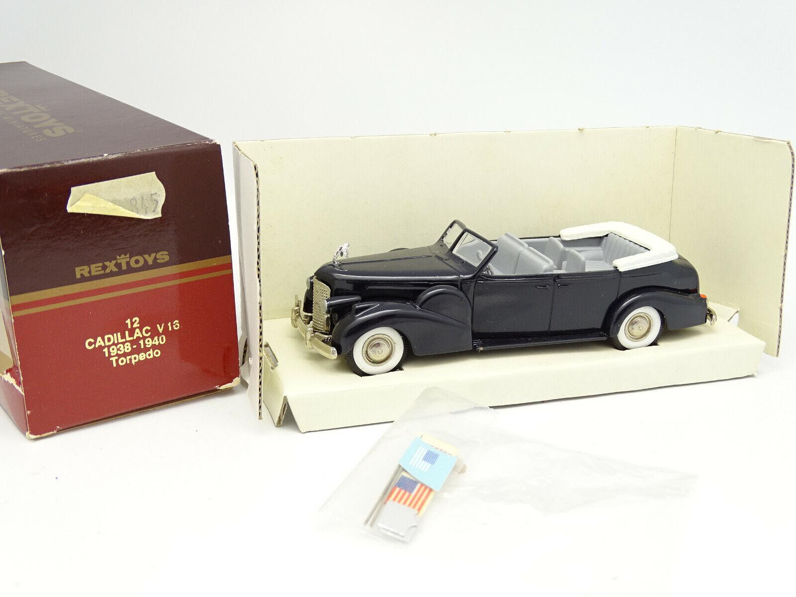 Rextoys 1 43 - Cadillac V16 Torpedo Presidential 1938