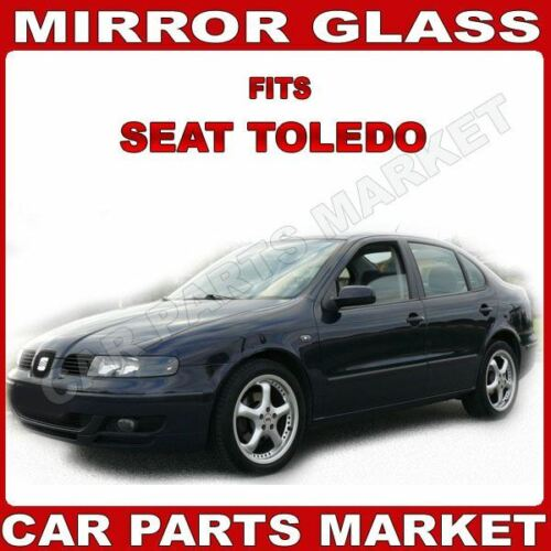 For Seat Toledo 99-02 Left passenger side Aspheric wing mirror glass with plate