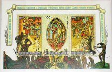GUINEA 1967 Block 25 B C98a Gemälde Paintings UNO UN HQ New York Art Kunst MNH