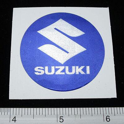 "SUZUKI Motor Cycles Bike Sticker Reflect Light Decal 1.75x1.75/"" Black/&Yellow"