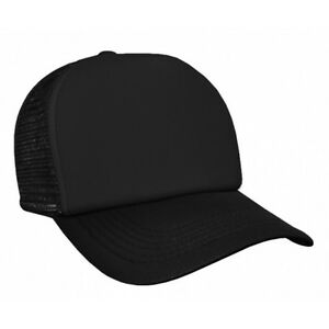 NEW-Quality-Black-Mesh-Trucker-Baseball-Cap-Hat-Snapback