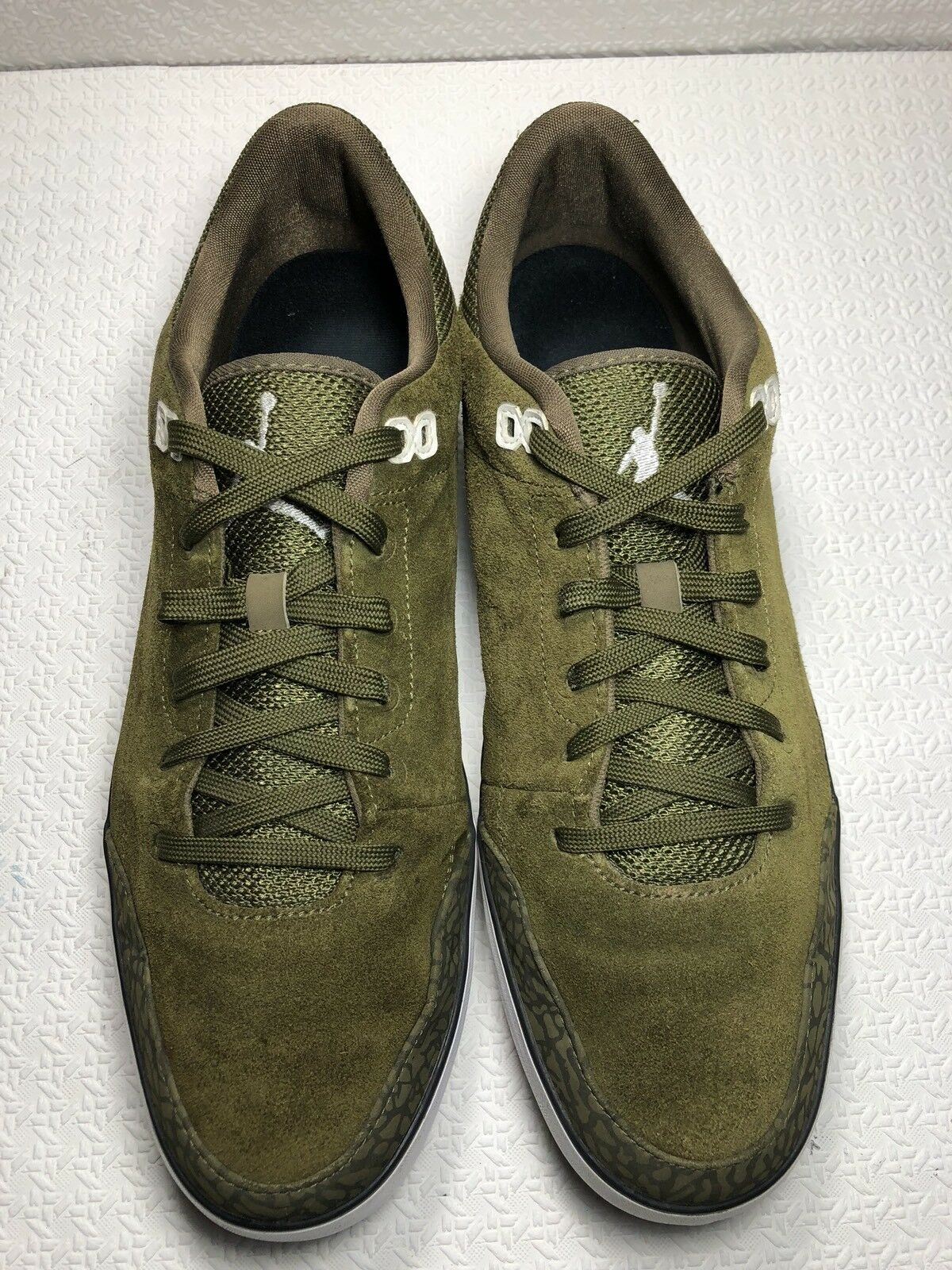 Nike Jordan Court AC1-579607-301 Men's Green Suede Leather Shoes Comfortable
