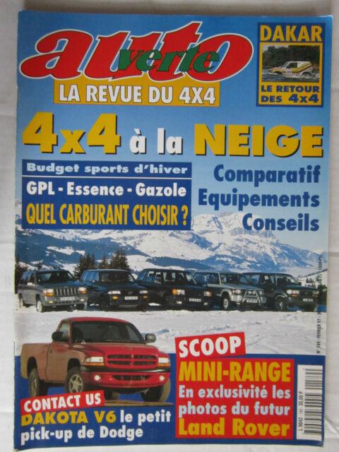 AUTO VERTE 4X4 N° 189 /DODGE DAKOTA V6/DAKAR/4X4 à la neige