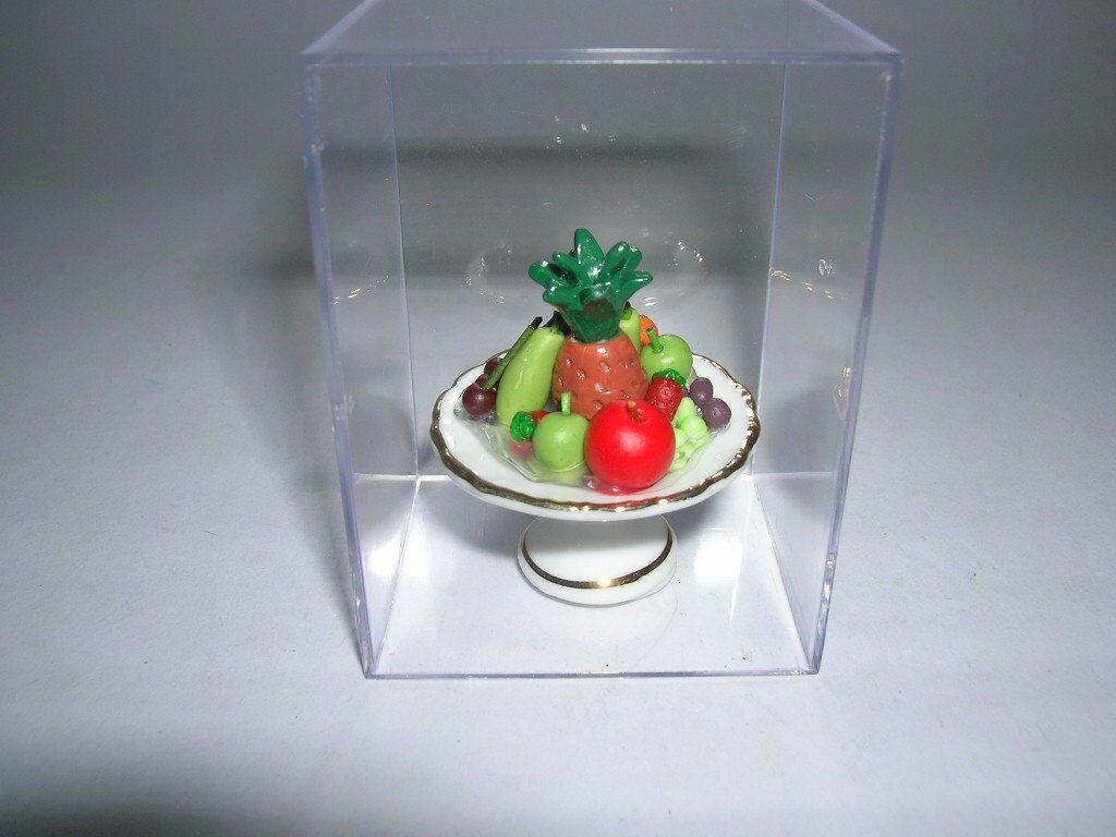 1:12 Seafood Salad On A Plate Dolls House Miniature Food Accessory P9Y1