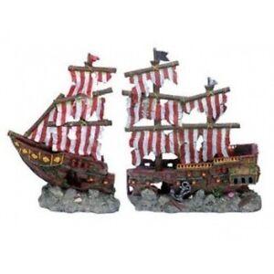 Image Is Loading Penn Plax Large Striped Pirate Ship Fish Tank