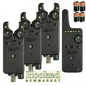 Delkim-TXI-D-Bite-Alarm-Set-of-Three-amp-Receiver-Including-FREE-Batteries
