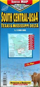 Map Of South Central Texas.Details About Map Of South Central Usa Texas Mississippi Delta Map 4 By Berndtson Maps