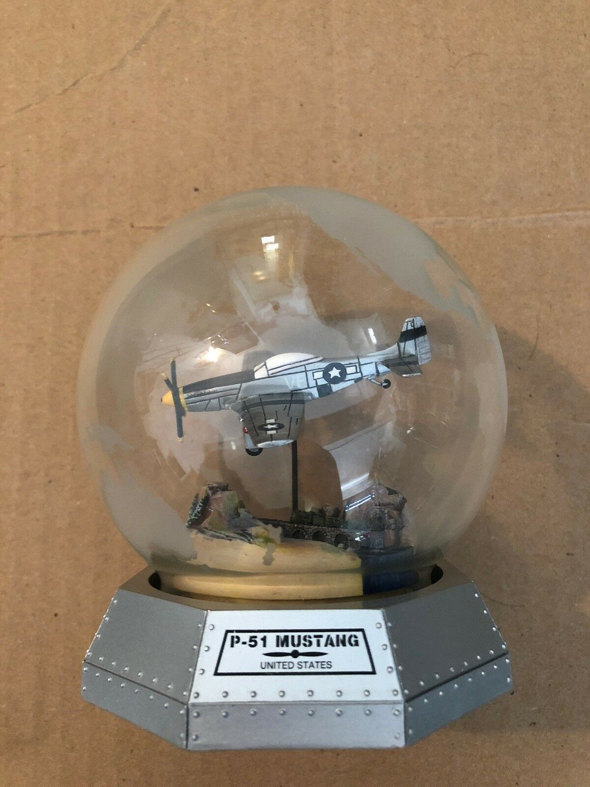 FRANKLIN MINT IMA North American P-51 MUSTANG Glass Display Globe