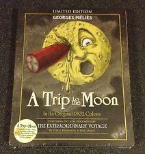 A TRIP TO THE MOON Blu-Ray & DVD SteelBook Limited Edition Georges Melies Rare!