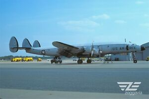 Aircraft-Photo-4-x-6-44062-Lockheed-C-121-Constellation-U-S-Air-Force-1960s