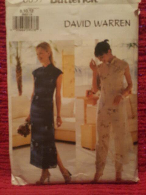 Slip /& Pants Sewing Pattern 6057 by David Warren Sizes 10 /& 12 Misses Butterick Dress 8