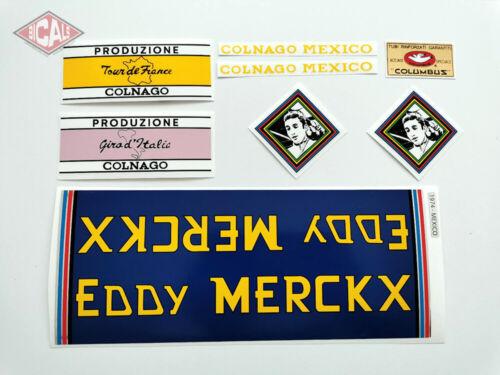 EDDY MERCKX COLNAGO MEXICO MOLTENI decal ON CHROME FOIL free shipping