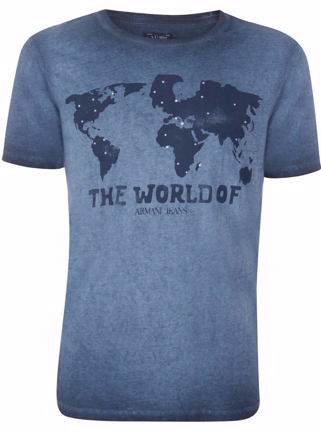 ARMANI Jeans da uomo blu  Il mondo di Armani Jeans'S T-Shirt Tutte Le Taglie Nuovo Con Etichetta