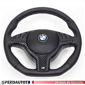 Mise-au-Point-Volant-en-Cuir-Airbag-BMW-E39-E46-M3-M5-X5-Inferieure-Aplati