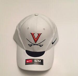 R2) University of Virginia UVA Cavaliers Nike Football White Small Medium Hat