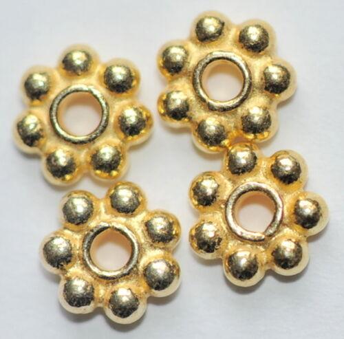 37002 /_ 14 florecitas de 925-er plata 3,5 mm dorado