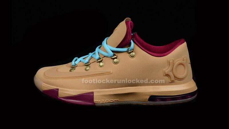 Nike KD 6 VI EXT Gum QS Size 14. 639046-900 Jordan Kobe
