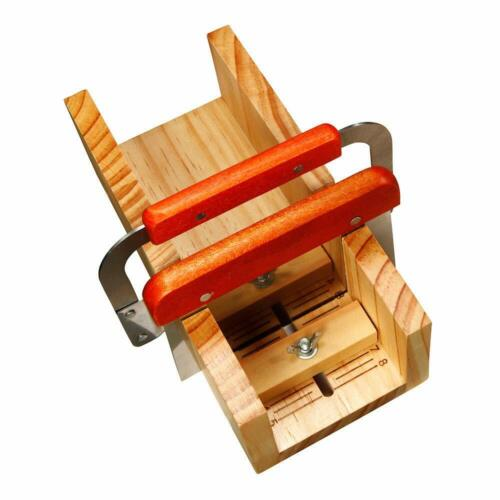 2 Pcs Straight Wavy Slicer Soap Cutting Tool Set Adjustable Wooden Cutter Mold