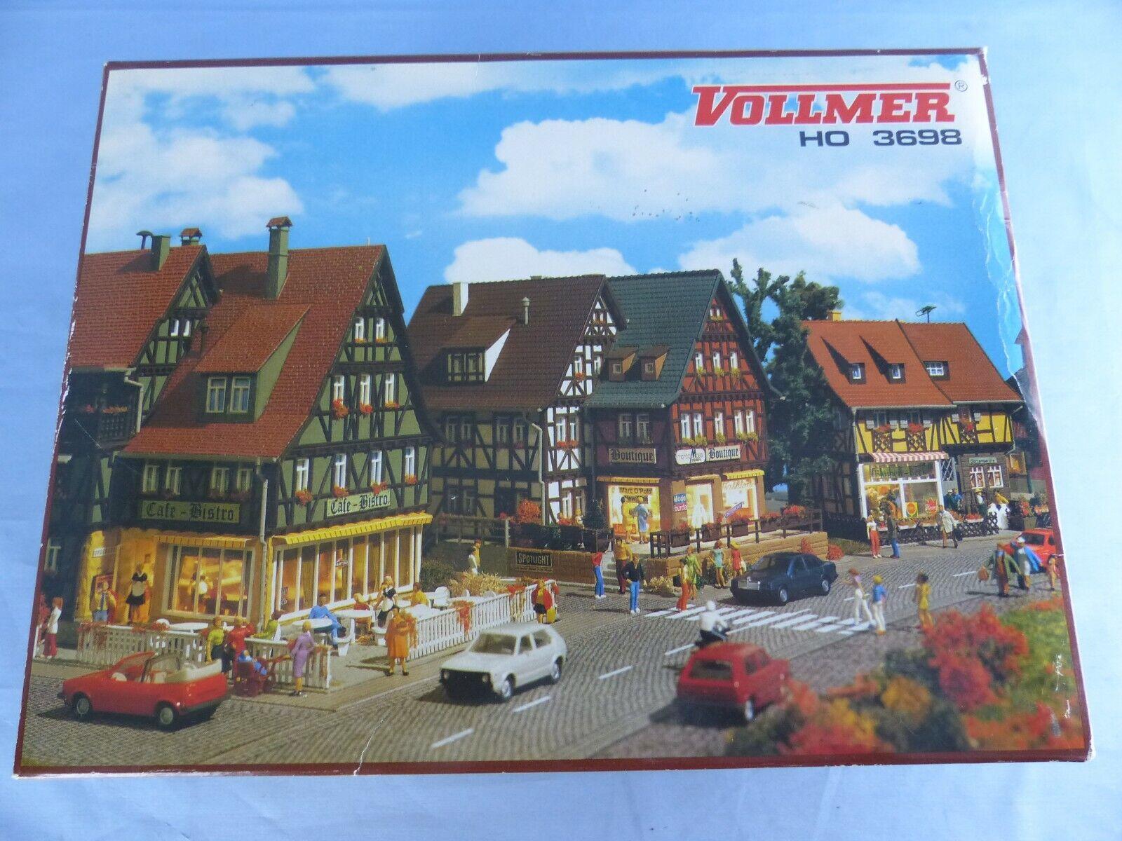 Lot 3 Maquettes VOLLMER HO 3698 rue de marché Marktstrasse décor réseau trains