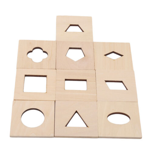 Wooden Toy Shape Sorter Kids Toddlers Puzzle Game Preschool Tactile Game CS