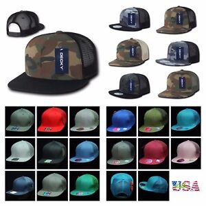 4aae48de9 Details about Baseball Cap Snapback Trucker Flat Bill Hunting Hiking  Military Hip Hop Hat