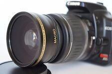 Wide Angle Macro Lens for Canon Eos Digital Rebel T4i sl1 XTi w/18-55 EF-S AF
