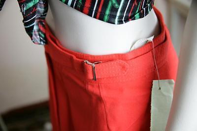 A-linea Rock Trevira Rosso Skirt Business Ufficio 70er Truevintage 70s Lana Vergine- Prestazioni Affidabili