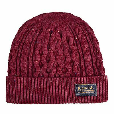 One Size VINO Kangol Headwear Men/'s Knep Cable Pull on Beanie