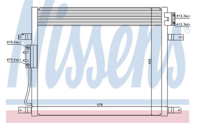 NISSENS Condensador, aire acondicionado JEEP GRAND 94972