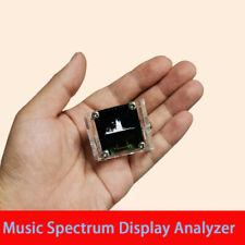 096 Oled Music Spectrum Display Analyzer Audio Level Indicator With Case New