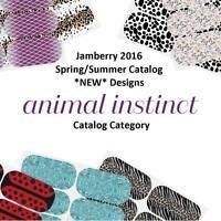 JAMBERRY Nail Wraps - 2016 Spring Catalog *Animal Instinct* - Half sheets