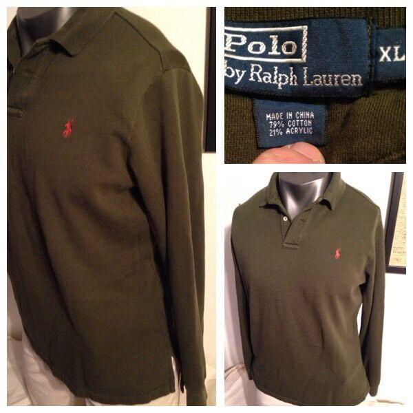 VTG POLO RALPH LAUREN vintage cotton acrylic Polo shirt Sportsman XL CP  91 92