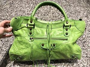 special for shoe amazing selection check out Details about BALENCIAGA City Green Leather Bag