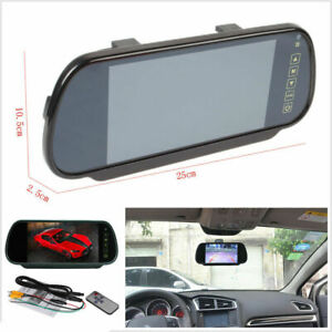 7-034-LCD-Car-Rear-View-Backup-Mirror-Monitor-For-Wire-Reverse-IR-Camera-System-Kit