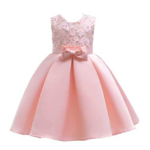 Kids Baby Flower Girls Dress Party Gown Formal Wedding Bridesmaid Princess Tutu
