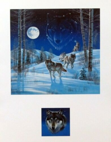 Moonlight Guardians Wolf Print By Cynthie Fisher with Remarque