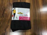 Women's 2 June & Daisy Cotton Leggings Size Small Black/grey 548g
