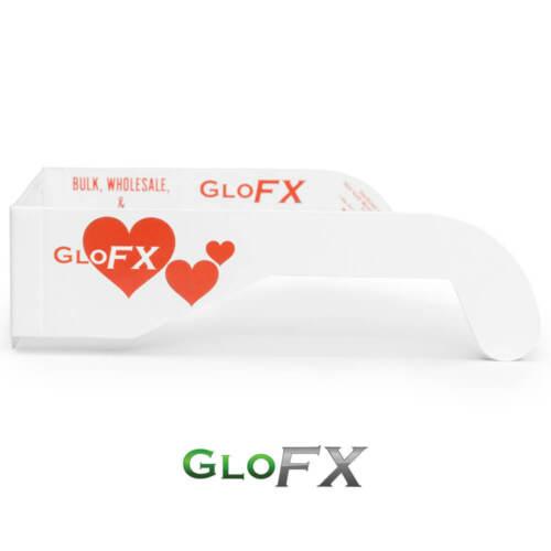 Pack of 20 GloFX Heart Effect Paper Cardboard Diffraction Glasses Heart Shape
