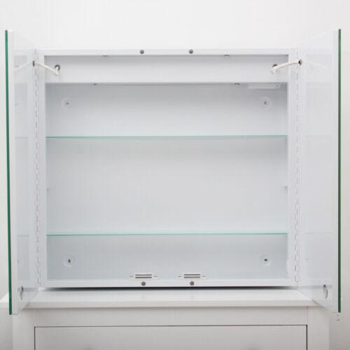 Anti-fog Bathroom Wall Mirror Cabinet Mirror LED Lighted Storage Box 220V Socket