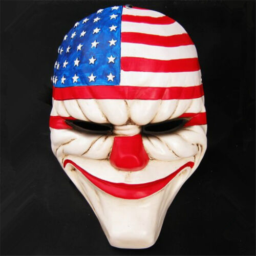 Payday2 Mask The Heist Dallas Stars Stripe Resin Mask Cosplay Costume Collection