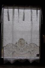 Scheibengardine Gardine Vorhang creme Landhaus Shabby 90 x 60 Leinen BW Mariclo