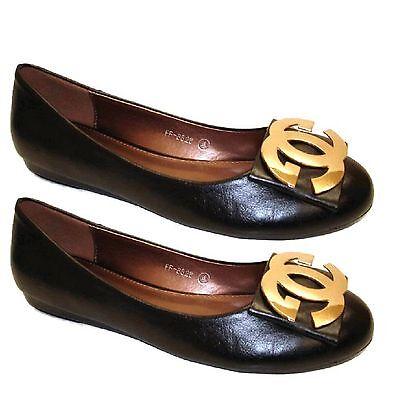 Para Mujer Damas Negro Bailarina Ballet mocasín Smart Fashions zapatos planos del Reino Unido ff8828