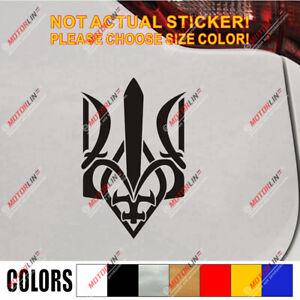 Ukraine Tryzub Trident Decal Sticker Ukrainian Car Vinyl pick size color b