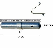 10 Pack Scaffolding Coupling Pin 1 38od X 9l With 1 Collar Amp Spring Rivet