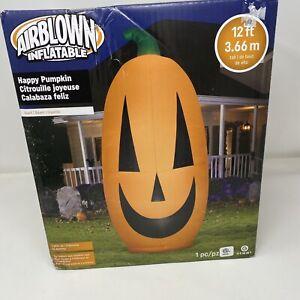 Gemmy-Halloween-12-FT-Giant-Pumpkin-Airblown-Inflatable-Jack-o-Lantern-NIB
