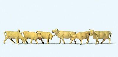 Preiser 79229 Spur N, Vacche, Marrone Chiaro, 6 Figure, Dipinta A Mano-mostra Il Titolo Originale Elegante E Grazioso