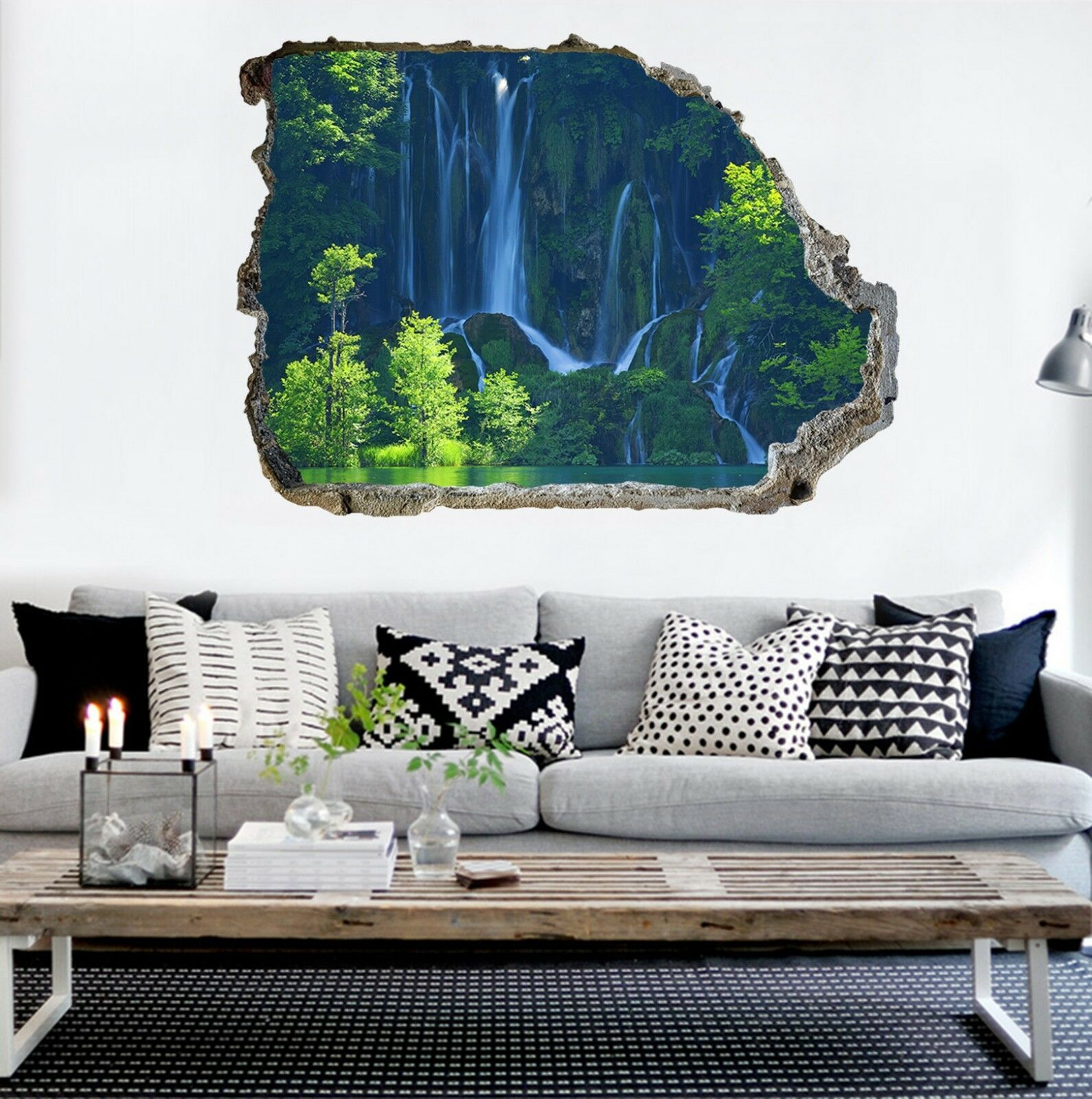 3D Wasserfall 210 Mauer Murals Mauer Aufklebe Decal Durchbruch AJ WALLPAPER DE