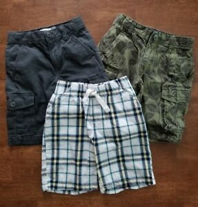 98a6721b34 3 Gap Old Navy Jumping Beans Boys Shorts Sz 7 Green Gray Cargo White ...